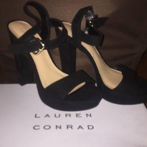 BRAND NEW Lauren Conrad Black Heels